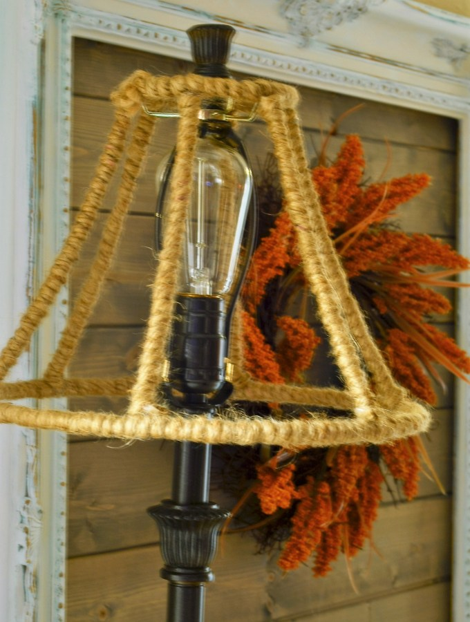 An easy jute rope wrapped lamp shade and a story