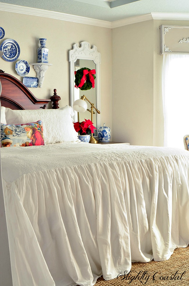 Christmas In The Master Bedroom-A Mini Reveal