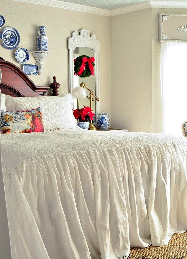 Christmas In The Master Bedroom. A French Country Coastal style retreat.