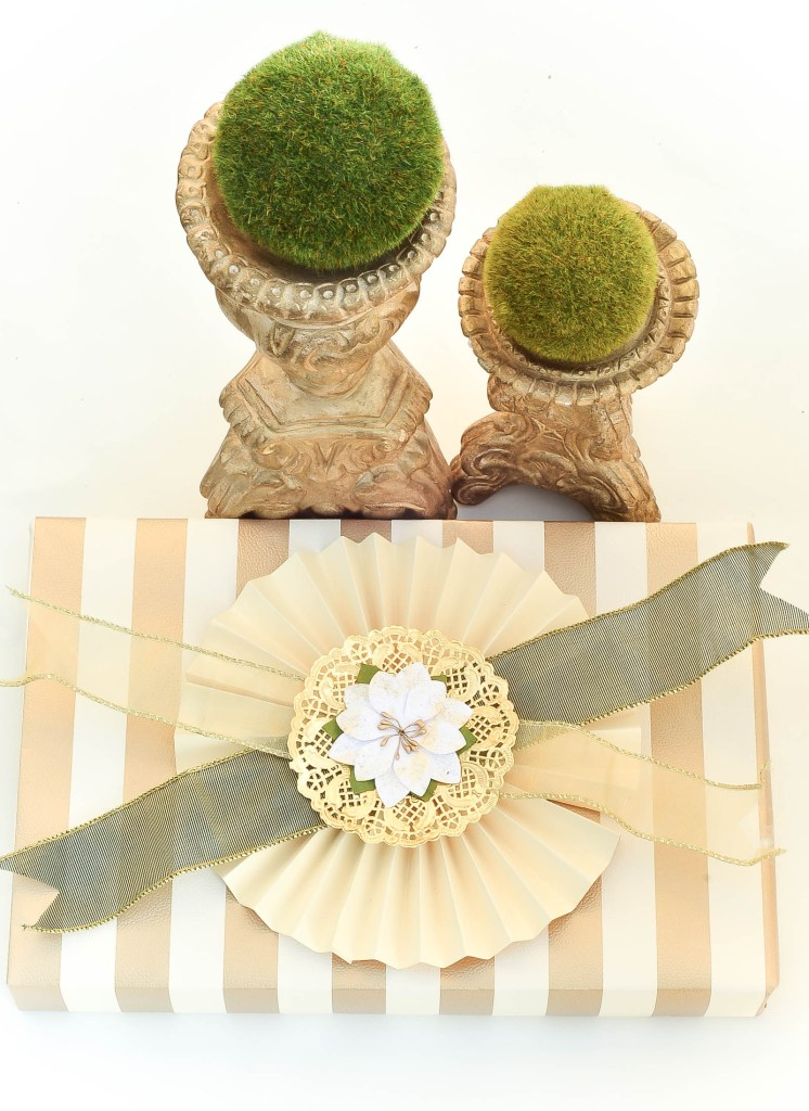 Fancy Gift Wrapping Inspiration using scrapbook paper