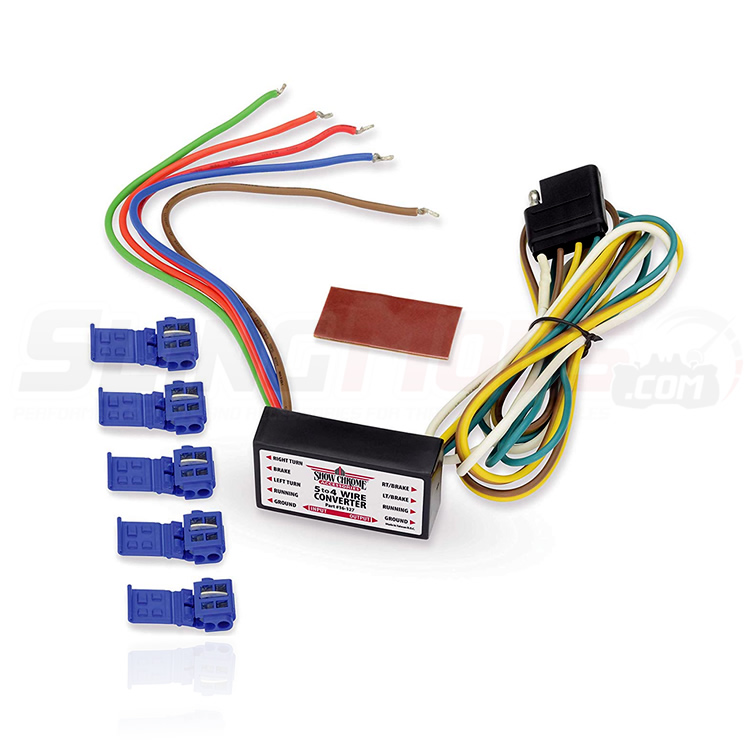 5 to 4 Wire Trailer Wiring Harness Converter for the Can-Am Spyder