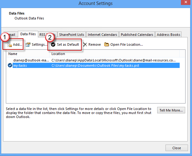 Export Or Backup Email Contacts And Calendar To An Outlook 2013 Set Reminders On Tasks In An Imap Account