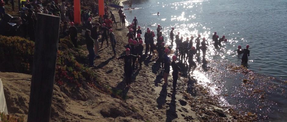 Morro Bay Triathlon start on Mother's Beach