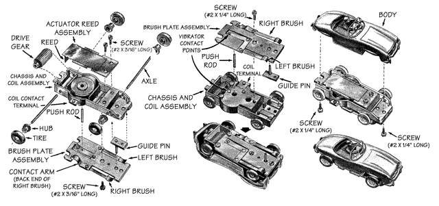 electric toy car diagram