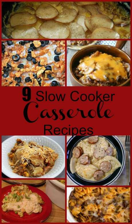 9 Delicious Slow Cooker Casserole Recipes! Find this and more yumminess @ http://www.slowcookerkitchen.com