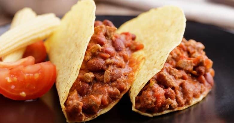 crock pot beef chili tacos
