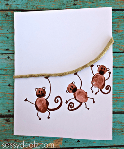 fingerprint-monkey-craft-for-kids