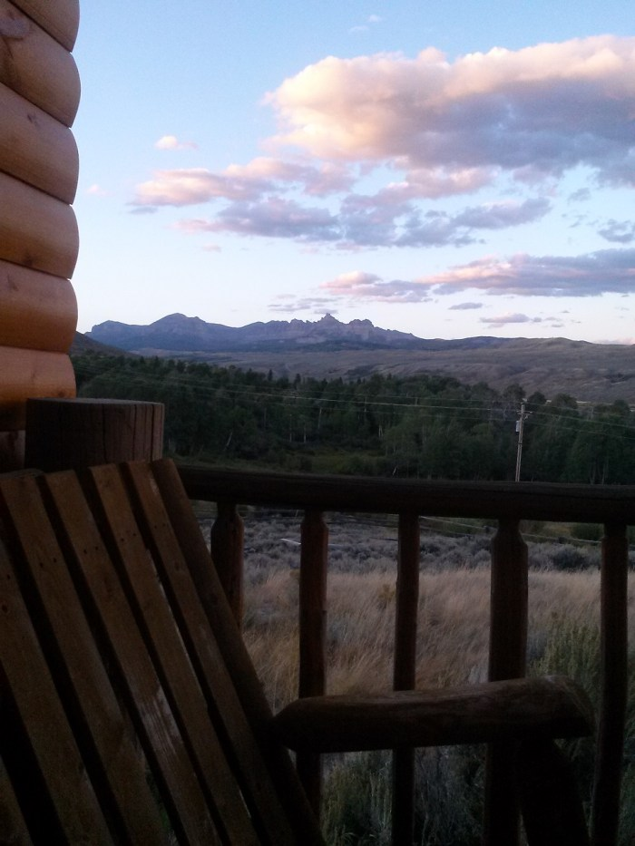 Back porch view from the dream/reality home