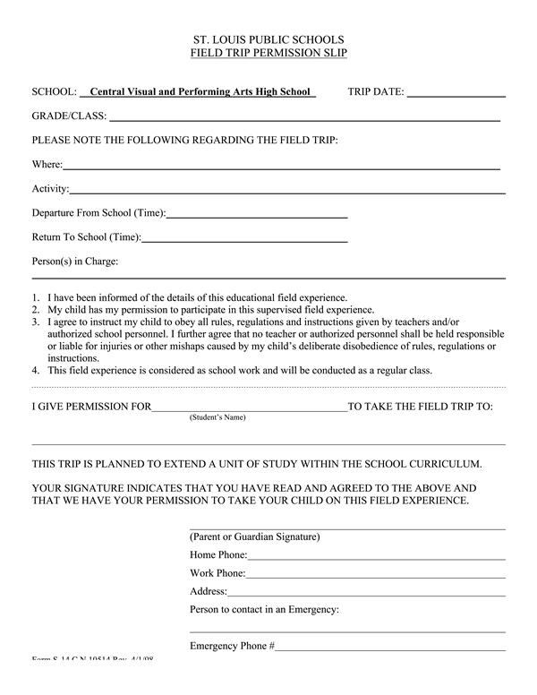 school field trip permission form template - Onwebioinnovate - permission form template