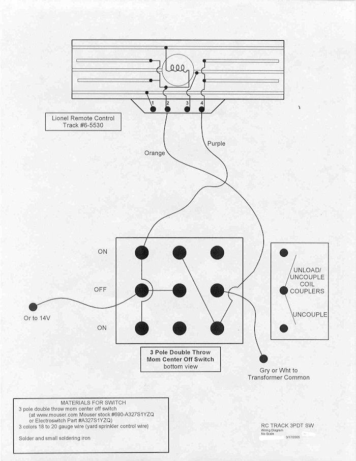lionel train track switches wiring diagram