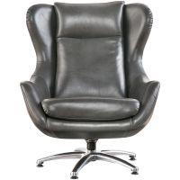 Slumberland Furniture | Commander Gray Swivel Lounge Chair
