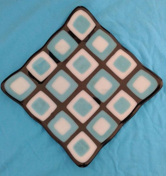 Stacked Squares Glass plate