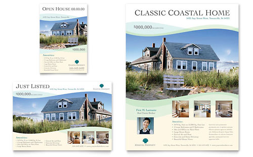 Free Real Estate Brochure Templates. Example Reference Page