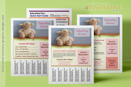 Free Babysitting Flyer Template - pull tab flyer template