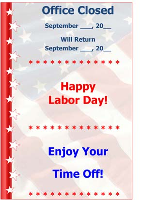 Labor Day - Small Business Free Forms