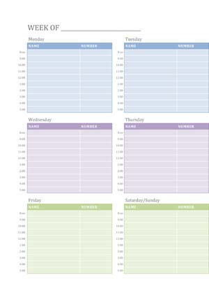 Scheduling - Small Business Free Forms - appointment scheduling sheets