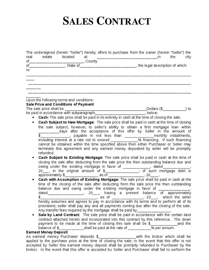 Sales Forms - Small Business Free Forms - Sample Sales Agreement