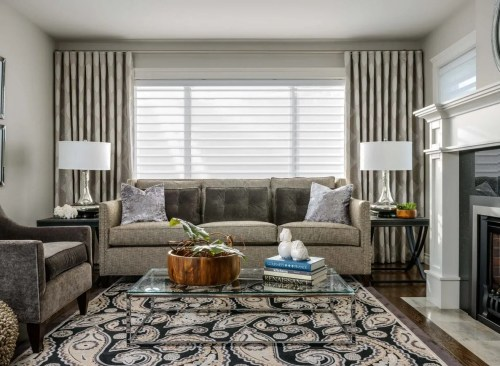 Medium Of Curtains For Living Room