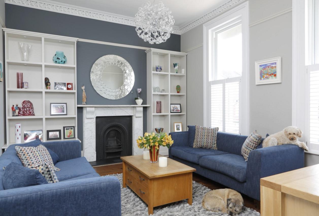 Blue Color Decoration Ideas For Living Room Small Design