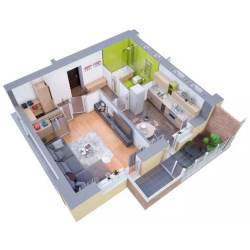 Small Crop Of Modern Apartment Floor Plan
