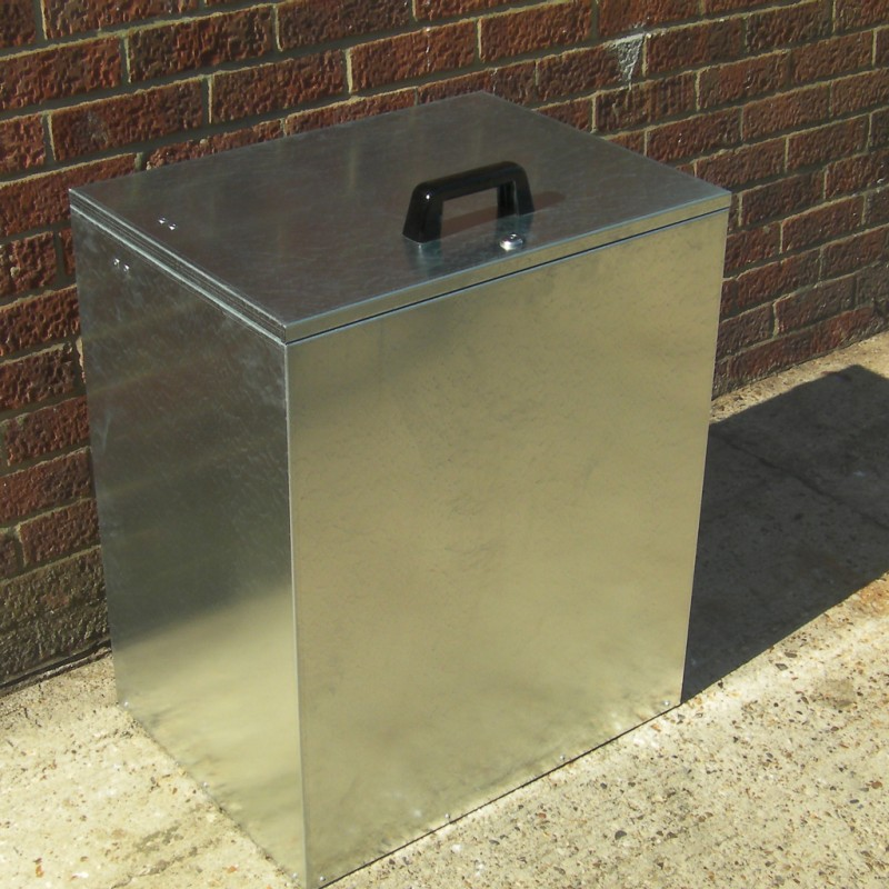 Heavy Duty 1 Compartment Galvanised Large Feed Bin Small