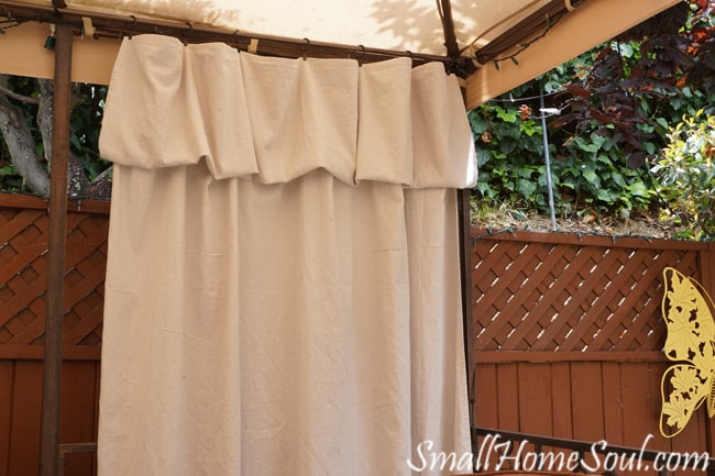 Drop Cloth Curtains My Patio Refresh Part 3 Small Home