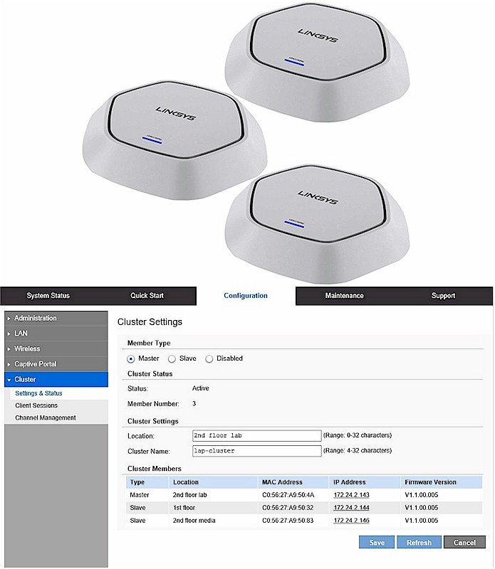 Linksys Access Point Clustering Reviewed - SmallNetBuilder