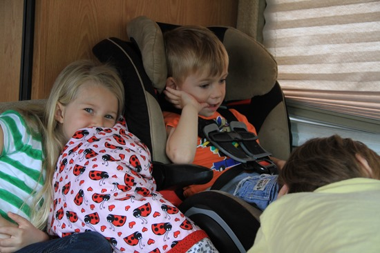 kids in an RV