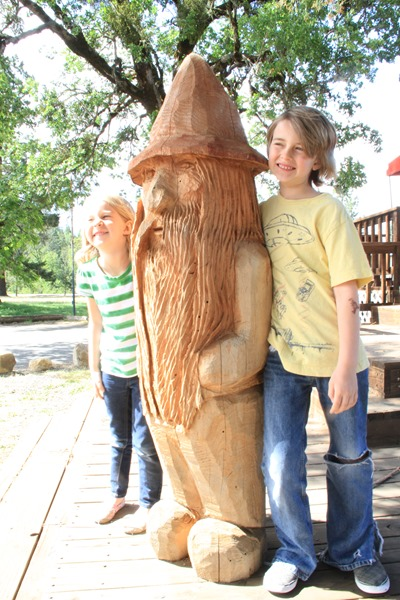 giant redwood gnome in O'Brien Oregon