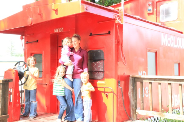 climbing caboose in O'Brien Oregon