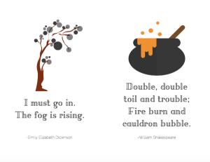 Minimalist Halloween Printables – Spooky Quotes