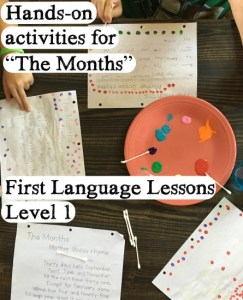 The Months – Painting and Dots with First Language Lessons