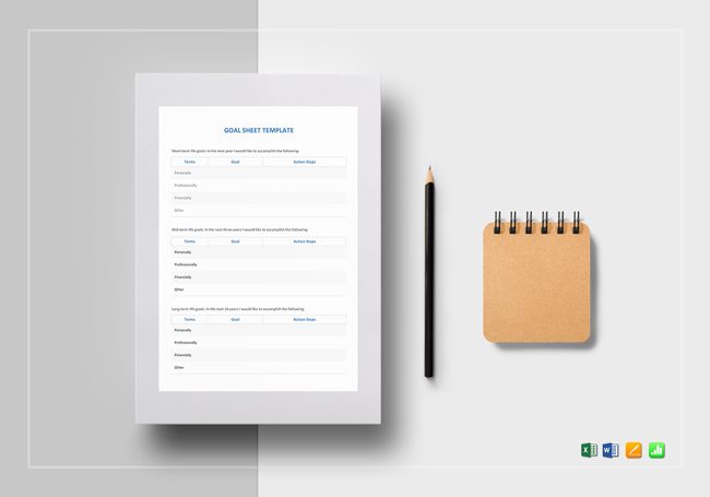 Free Goal Setting Worksheets Forms And Templates - goal setting templates