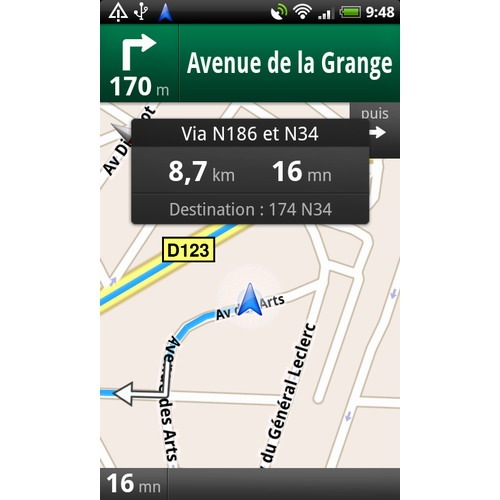 Google Maps navegacion Android Europa Espana