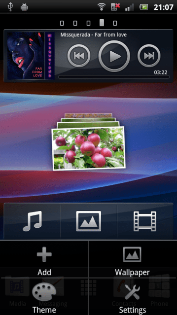 Home launcher Xperia