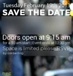 HTC programa conferencia de prensa para el 19 de Febrero: posible anuncio del HTC M7