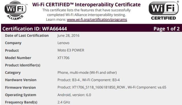 Motorola Moto™ E3 Power