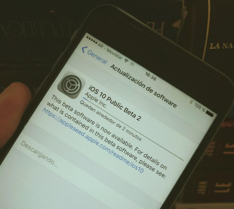 iOS diez beta publica 2 disponible