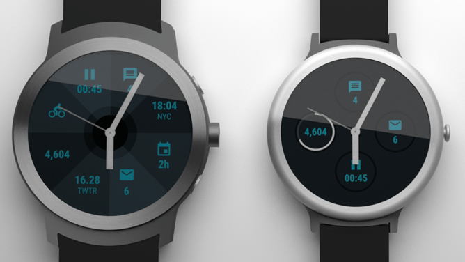 posibles smartwatches(reloj) Nexus™ mostrados en renders