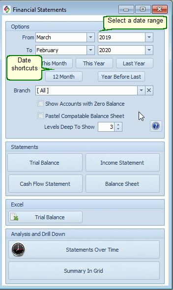 smart-it+ Help - Profit  Loss and Trial Balance
