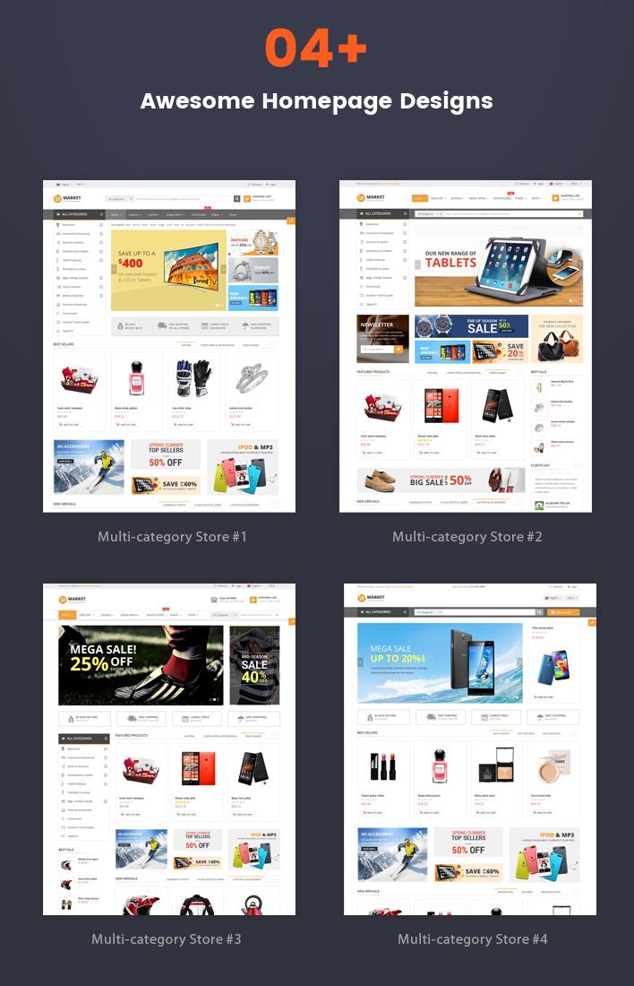 Responsive Joomla eCommerce Template - SJ Market