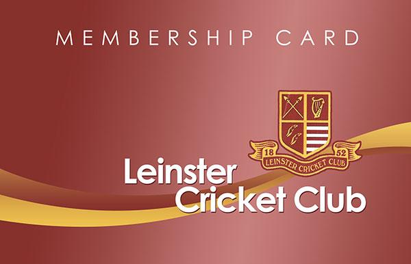 Leinster Cricket Club Club Membership Management System - club card design