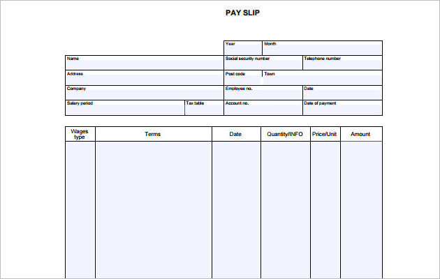 Blank Pay Stubs Template paystub template free download a free - payroll stub template free