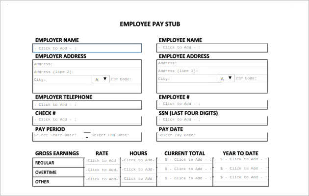 Best Pay Stub Templates Free  Premium Templates