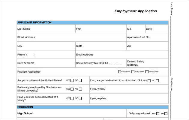 Employee Application Form Templates Word Templates SmartColorlib - job application form template