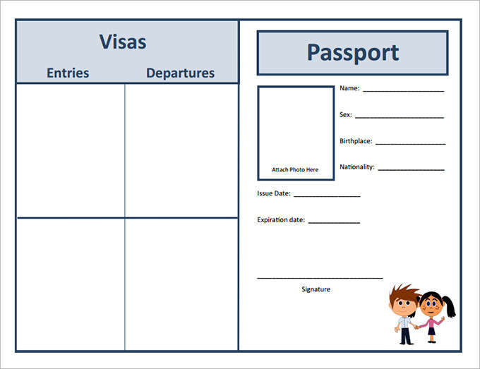 29+ Passport Templates for Students - Word, Excel SmartColorlib
