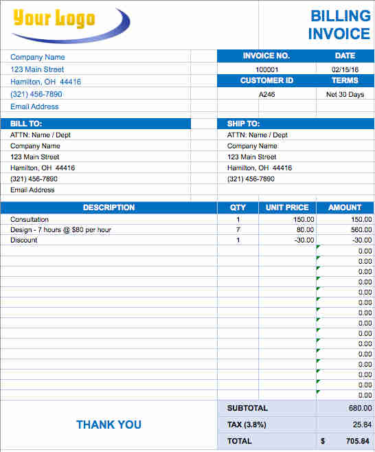 50+ Invoice Templates - Word, Excel, Pdf, Sample, Examples