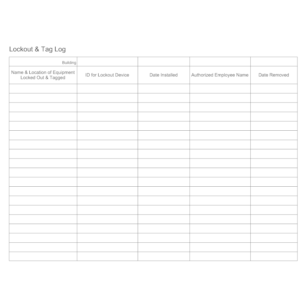 lock out tag out forms