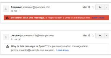 google mail spam