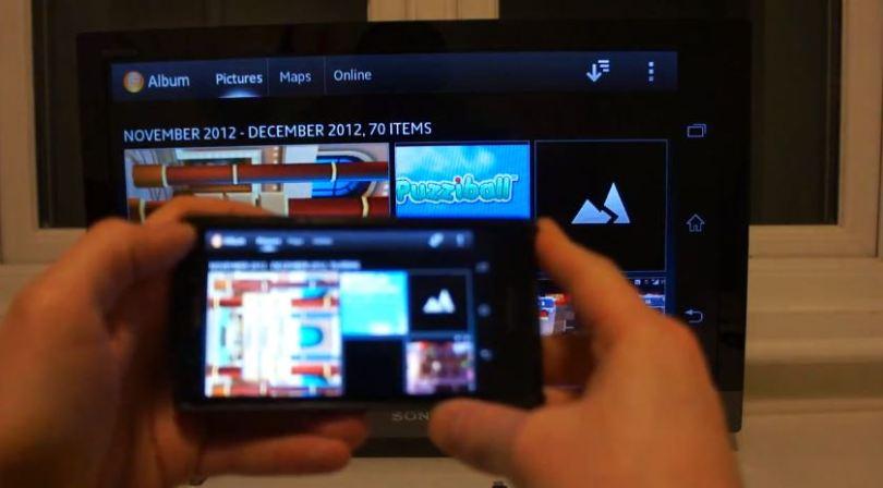 Sony Xperia T Miracast Screenshot